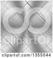 Scratched Shiny Metal Background