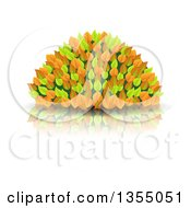 Clipart Of A Colorful Autumn Bush Royalty Free Vector Illustration by vectorace