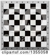 Clipart Of A Chess Board Royalty Free Vector Illustration