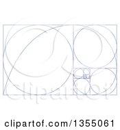 Blue Fibonacci Spiral Design