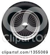 Clipart Of A Retro Wheel Royalty Free Vector Illustration