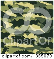 Clipart Of A Seamless Background Of Green Camouflage Royalty Free Vector Illustration