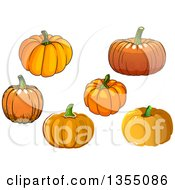 Clipart Of Pumpkins Royalty Free Vector Illustration by Vector Tradition SM