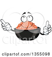 Clipart Of A Cartoon Red Caviar Character Royalty Free Vector Illustration