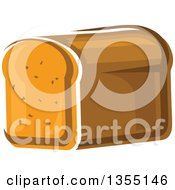 Clipart Of A Cartoon Loaf Of Bread Royalty Free Vector Illustration