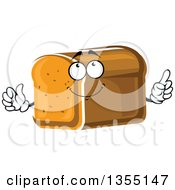 Clipart Of A Cartoon Loaf Of Bread Character Royalty Free Vector Illustration