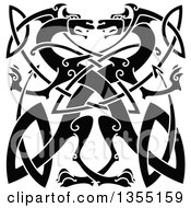 Black Celtic Dragons Knot