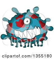 Clipart Of A Cartoon Germ Virus Or Monster Royalty Free Vector Illustration by Vector Tradition SM