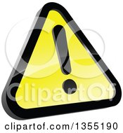 Clipart Of A Shiny Hazard Warning Sign Royalty Free Vector Illustration