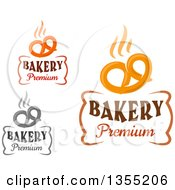 Clipart Of Hot Soft Pretzel Bakery Text Designs Royalty Free Vector Illustration by Vector Tradition SM