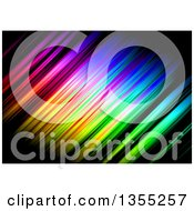Clipart Of A Backgorund Of Colorful Streaks On Black Royalty Free Illustration