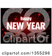 Clipart Of A Happy New Year 2016 Greeting Over A Red Spiraling Star Burst Royalty Free Vector Illustration by dero