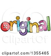 Clipart Of A Cartoon Stitched Word Original Royalty Free Vector Illustration