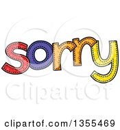 Clipart Of A Cartoon Stitched Word Sorry Royalty Free Vector Illustration by Prawny