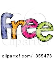 Clipart Of A Cartoon Stitched Word FREE Royalty Free Vector Illustration