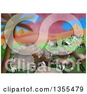Clipart Of A Scene Of The Fifth Plague In The Book Of Exodus Plague Of Livestock Grievous Murrain Royalty Free Illustration by Prawny