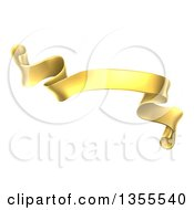 Clipart Of A Gold Scroll Ribbon Banner Royalty Free Vector Illustration by AtStockIllustration
