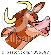 Cartoon Mooing Cow Head