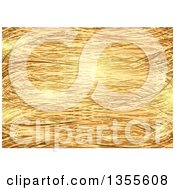 Clipart Of A Background Of Golden Strands Royalty Free Vector Illustration