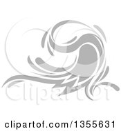 Clipart Of A Gray Splash Or Surf Wave Royalty Free Vector Illustration