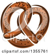 Clipart Of A Cartoon Soft Pretzel Royalty Free Vector Illustration by Vector Tradition SM