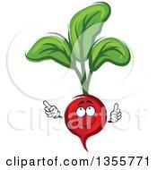 Clipart Of A Cartoon Radish Character Royalty Free Vector Illustration