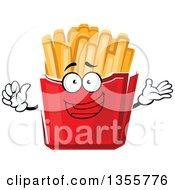 Clipart Of A Cartoon French Fries Character Royalty Free Vector Illustration by Vector Tradition SM