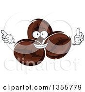 Clipart Of A Cartoon Coffee Beans Character Royalty Free Vector Illustration by Vector Tradition SM