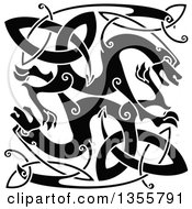 Black Celtic Knot Dragons