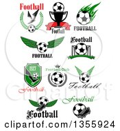 Soccer Sports Designs With Text