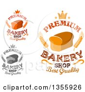 Clipart Of Crown And Bread Loaf Bakery Designs With Text Royalty Free Vector Illustration