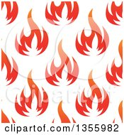 Seamless Pattern Background Of Gradient Flames
