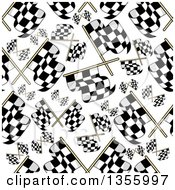 Clipart Of A Seamless Background Patterned Of Racing Flags Royalty Free Vector Illustration