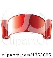 Clipart Of A Gradient Reflective Red Ribbon Banner Scroll Royalty Free Vector Illustration by Lal Perera