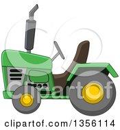 Cartoon Green Tractor