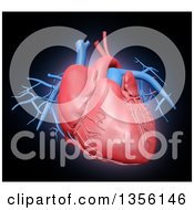 Clipart Of A 3d Human Cardiovascular System Royalty Free Illustration