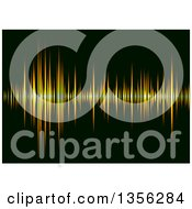 Clipart Of A Sound Equalizer Background Of Orange Bars On Black Royalty Free Vector Illustration