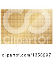 Clipart Of A Gold Tile Background With Light Royalty Free Vector Illustration by dero