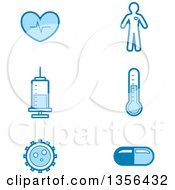Clipart Of Blue Medical Icons Royalty Free Vector Illustration by Cory Thoman