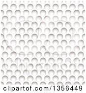 Clipart Of A Background Of White Paper With Holes And Shadows Resembling A Golf Ball Texture Royalty Free Vector Illustration