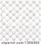 Clipart Of A Seamless Background Of White Paper Pillows Royalty Free Vector Illustration