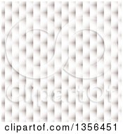 Clipart Of A Background Of A 3d White Paper Weave Texture Royalty Free Vector Illustration