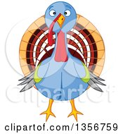 Clipart Of A Cute Thanksgiving Turkey Bird Royalty Free Vector Illustration by Pushkin