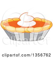 Clipart Of A Thanksgiving Pumpkin Pie Royalty Free Vector Illustration by Pushkin