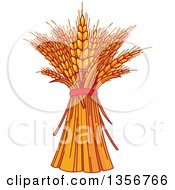 Clipart Of Harvested Wheat Royalty Free Vector Illustration by Pushkin