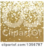 Clipart Of A Blurred Christmas Background Of Golden Sparkly Glitter Royalty Free Illustration