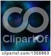 Clipart Of A Nebula And Galaxy Outer Space Background Royalty Free Illustration