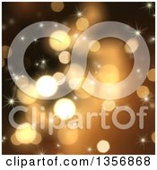 Clipart Of A Background Of Glitter Bokeh Lights And Sparkles Royalty Free Illustration