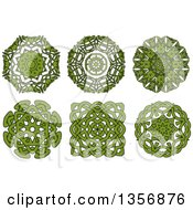 Black And Green Celtic Knot Design Elements