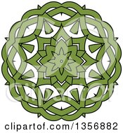 Black And Green Celtic Knot Design Element